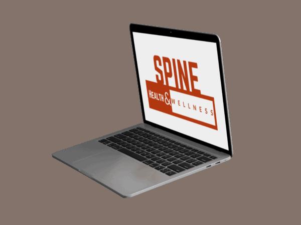 Website Mockup On A Laptop